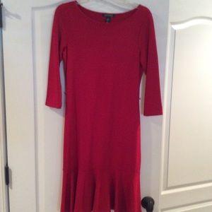 Ralph Lauren Red Dress S no belt NWT